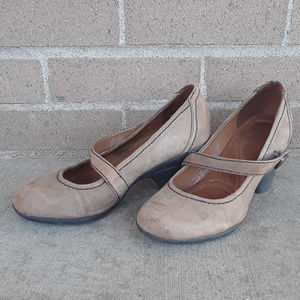Naturalizer Jansen Brown Leather Mary Jane Pumps 6